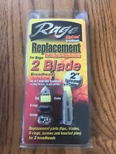 NEW Rage 2-Blade SlipCam Broadheads Replacement Blades Archery Hunting