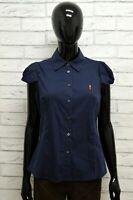 Camicia COOP. PESCATORI POSILLIPO Donna Taglia XS Maglia Shirt Blusa Woman Blu