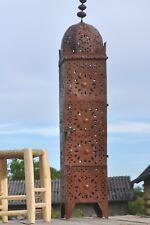 1x orientalische marokkanische Laterne Windlicht Turm Edel Rost H 150 cm Ø 28 cm