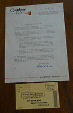 1941 Outdoor Life Magazine Mail Order Opportunity Letterhead Correspondence