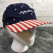 New listing Vintage Harley Davidson American Flag Hat Made In Usa Stars And Stripes Snapback