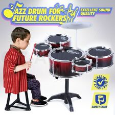 9Pcs Kids Junior Jazz Drum Kit Music Set Children Mini Big Band Play Toy Musical