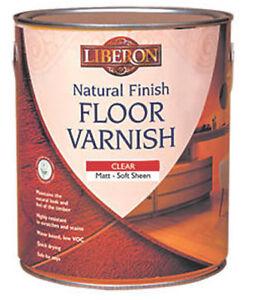 Liberon Natural Finish Quick Drying Wooden Floor Varnish Matt or Satin Finish