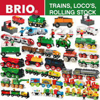 BRIO Wooden Railway Trains, Locomotives & Rolling Stock - Full Range - Choose