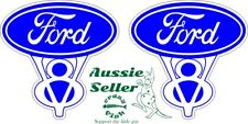 FORD V8 Stickers TWO (2)  50 x 50 mm
