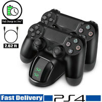 For PS4 Dual Controller Fast Charger Charging Dock Station Dualshock Gamepad K10