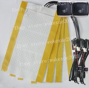Auto seat heater,2 seats heated seat,carbon fiber pad,fit Mercedes,BMW,all cars
