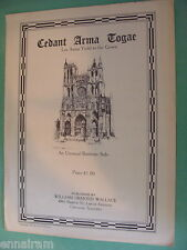 Cedant Arma Togae Let Arms Yield to the Gown baritone solo 1938 William Wallace