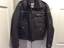Yamaha Tour Rider Black Motorcycle Jacket Cafe Racer Insulated M Medium EUC