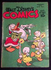 Walt Disney's Comics & Stories Vol.6 #4 Golden Age Comic Jan 1946 Carl Barks G+