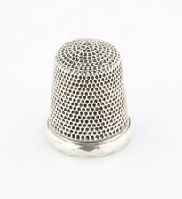 Vintage Sterling Silver Thimble 5.0 grams 21 mm Long Great Condition!