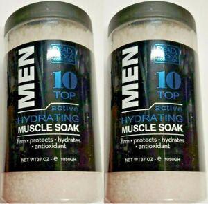 (2 Ct) Dead Sea Collection Men Aloe Vera & Patchouli Natural Muscle Soak 37 Oz