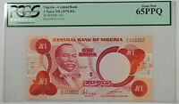 (1979-84) Nigeria Central Bank 1 Naira Note SCWPM# 19c PCGS 65 PPQ Gem New
