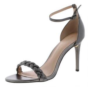 Zoe by Rachel Zoe Womens Ella Gray Dress Sandals 8.5 Medium (B,M) BHFO 3406