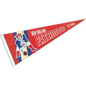 New England Patriots Throwback Vintage Retro Pennant Flag