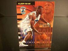 Rare Larry Johnson Fleer 1996 Card #322 Charlotte Hornets NBA Basketball