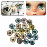 Lots 20Pcs Color Glass Safety Eyes For Animal Doll Puppy DIY Craft 8mm/12mm/18mm