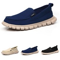 Mens Canvas Pumps Slip on Loafers Shoes Driving Moccasins Flats Walking Casual L