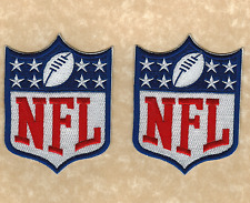 """Lot of 2 - 3.5"""" National Football League NFL New Logo Iron-on Jersey PATCHES!"""