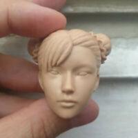 "Blank Hot 1/6 Scale Chun-Li  チュン・リー Head Sculpt Unpainted Fit 12"" Body"