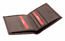 MENS RFID REAL LEATHER ULTRA SLIM CREDIT CARD HOLDER NOTE CASE WALLET BROWN 122