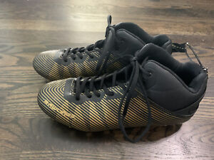 Rawlings Black & Gold Football Cleats Men's SIZE 7