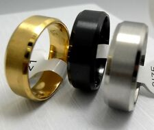 100gold black silver wedding band  stainless steel rings Jewelry lots Wholesale
