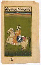 Mughal Equestrian Miniature Original Paper Work Water Color Handmade Painting