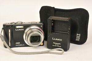 Panasonic Lumix DMC-TZ10 12.1MP HD GPS Compact Digital Camera with Case