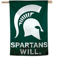 "Michigan State Spartans Spartans Will 28""X40"" Banner Flag Brand New Wincraft"