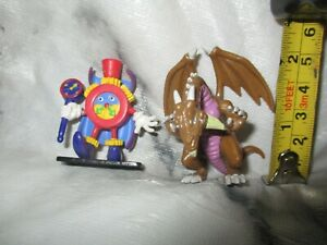 2 x Small Yugioh Figures  - Time Wizard and Thousand Dragon