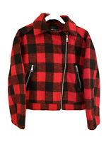 "NWT Sundance Catalog Driftwood Red Black ""Buffalo Plaid Jacket"" Sz XL $138"