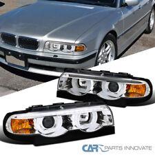 Para 95-01 BMW E38 serie 7 740i 740iL 750iL claro Helado Halo Proyector Faros