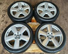 AUDI A6 C6 SET OF 4 GENUINE S-LINE ALLOY WHEELS AND TYRES 245/40/R18
