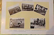 Ancienne Planche 1922 Culture du Café au Brésil Plantation , lavé séché mis en s
