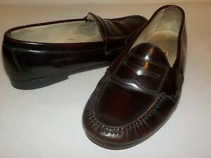 Men's COLE HAAN Slip-on Penny Loafers, Cordovan, Size 10.0 M - Very nice