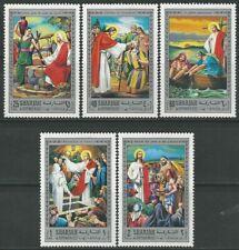 Sharjah 1970 ** Mi.764/68 A Leben Life Jesus Christentum Religion Church Kirche