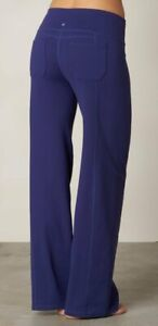 NEW prAna INDIGO JULIA STRAIGHT LEG YOGA PANTS SIZE XS REGULAR INSEAM
