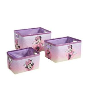 Minnie Mouse Nestable Kids Storage Boxes Set of 3