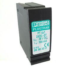 PHOENIX Plugtrab PT 4X1-24DC-ST Überspannungsschutzstecker 2838322 ÜS-Schutz