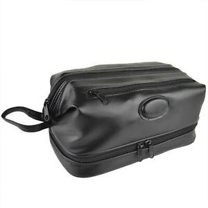 Mens Faux Leather Classic Travel Framed Washbag by Danielle Creations; Milano...