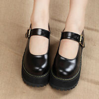 Womens Mary Jane Round Toe Platform Oxford Vintage Buckle Sweet Lolita New Shoes