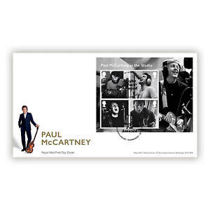 UK 2021 Paul McCartney Music Giants Part V Mini Sheet First Day Cover