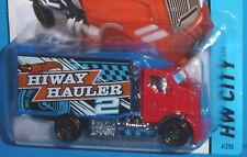 2014 HOT WHEELS Hiway Hauler 2 Red #6/250 HW CITY WORKS NIP