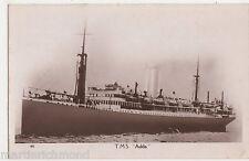 T.M.S. Adda, 1936 Shipping RP Postcard, B524