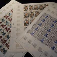 FEUILLE SHEET GRANDES NOMBRES DE LA'HISTORIA Nº1616/1618 x25 NEUF LUXE MNH