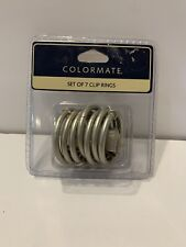 Colormate Set Of 7 Clip Rings