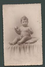 Ed.Baron, Douai, France, Rp of plump baby on cushion, with ball  qe95