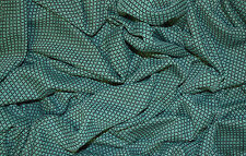 GREEN JERSEY 60'S VINTAGE RETRO MINI DIAMOND CROSS JACQUARD STRETCH DRESS FABRIC