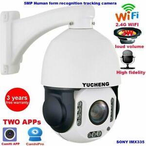 5MP 30X Wireless Auto Tracking SONY IMX335 PTZ Speed dome IP Camera Build in MIC